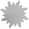 Metal Blank 24ga German Silver Sun 32mm No Hole